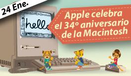 24 de Enero. El primer Mac cumple 34 años
