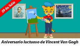 29 de julio: Aniversario luctuoso de Vincent  Van Gogh