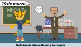 19 de marzo: Natalicio de Mario Molina, premio Nobel de Química.