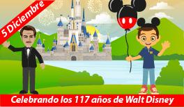 5 de diciembre: Natalicio de Walt Disney