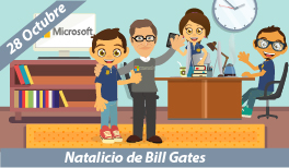 28 DE OCTUBRE. NATALICIO DE BILL GATES